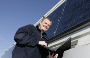 Galerie der Zukunftsberufe: Produktmanager  für solare Symstentechnik. Foto: Stephan Wieland