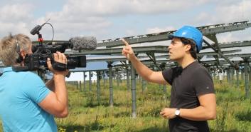 Solar Speichertechnik Forschuing am Forschungszentrum Jülich mit Cristiano. Foto: Jasmin Welker