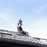 Sacha Kirchberger auf dem Dachfist. Foto: Stephanie Pletsch