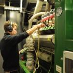 Motorencheck an der Biogasanlage