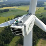 Eine von mehr als 50 Windenergieanlagen der NATURSTROM AG