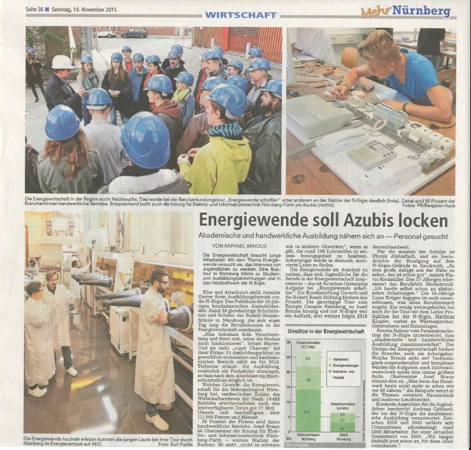 Artikel in den Nürnberger Nachrichten