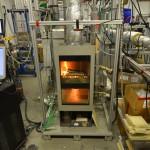Kaminofen im Verbrennungstechnikum des DBFZ | Foto: DBFZ