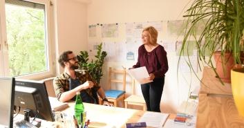 Behind the scenes – Bauzeichnerinnen im Dreh